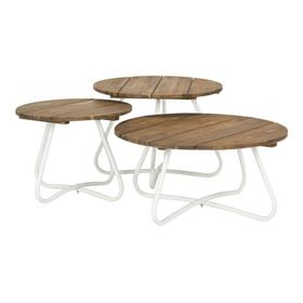 Henderson 3pc Wood Top Coffee Table - Natural / White