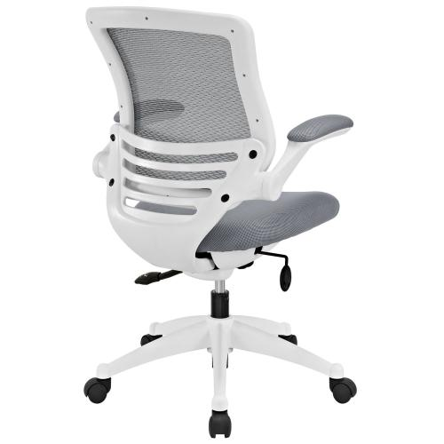 Edge White Base Office Chair in Gray