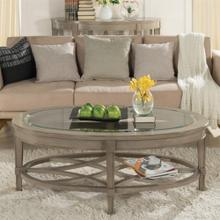 Product Image - Parkdale - Oval Coffee Table - Dove Grey Finish