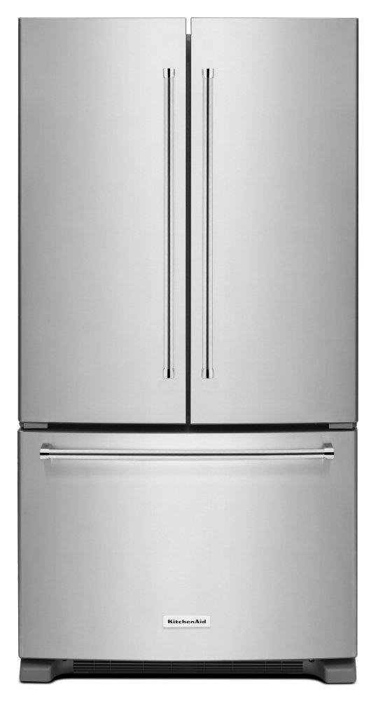 Kitchenaid20 Cu. Ft. 36-Inch Width Counter-Depth French Door Refrigerator With Interior Dispense - Stainless Steel