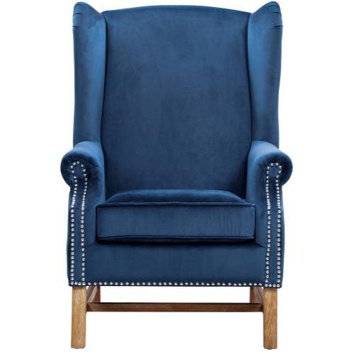 Nora Navy Velvet Chair