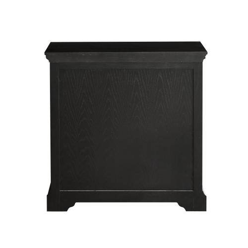 Two Door, One Drawer Console in Antique Black