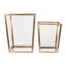 Macon Decorative Boxes Set/2, Antique Brass