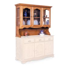 """Product Image - Classic Open Hutch Top, 63 1/2"""", Antique Glass"""
