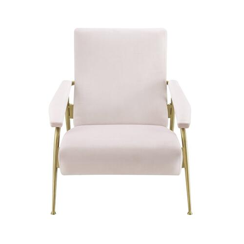 Abbey Blush Velvet Chair