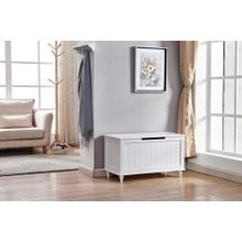 6609 White Storage Bench