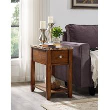 View Product - Oak Finish Chair Side End Table