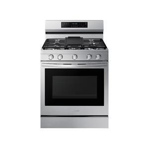 6.0 cu. ft. Smart Freestanding Gas Range with No-Preheat Air Fry, Convection+ & Stainless Cooktop in Stainless Steel Product Image