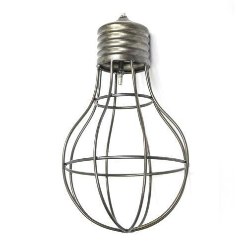"- Wire Lightbulb Sculpture, 14"""