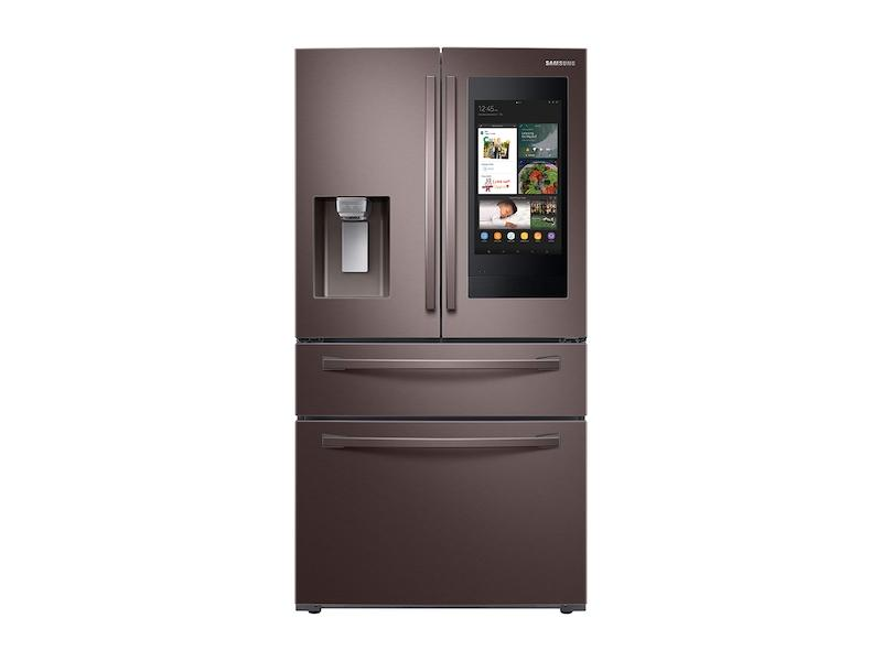 22 cu. ft. Counter Depth 4-Door French Door Refrigerator with Touch Screen Family Hub™ in Tuscan Stainless Steel