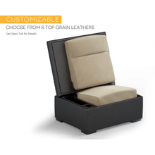 JumpSeat Ottoman, Leather