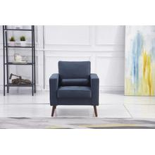 See Details - 8116 NAVY Linen Stationary Chair