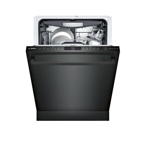 "Bosch Closeout - 24"" 800 Series Dishwasher, 42DBA, Flex 3rd Rack, Touch Controls & Info Light (Black)"
