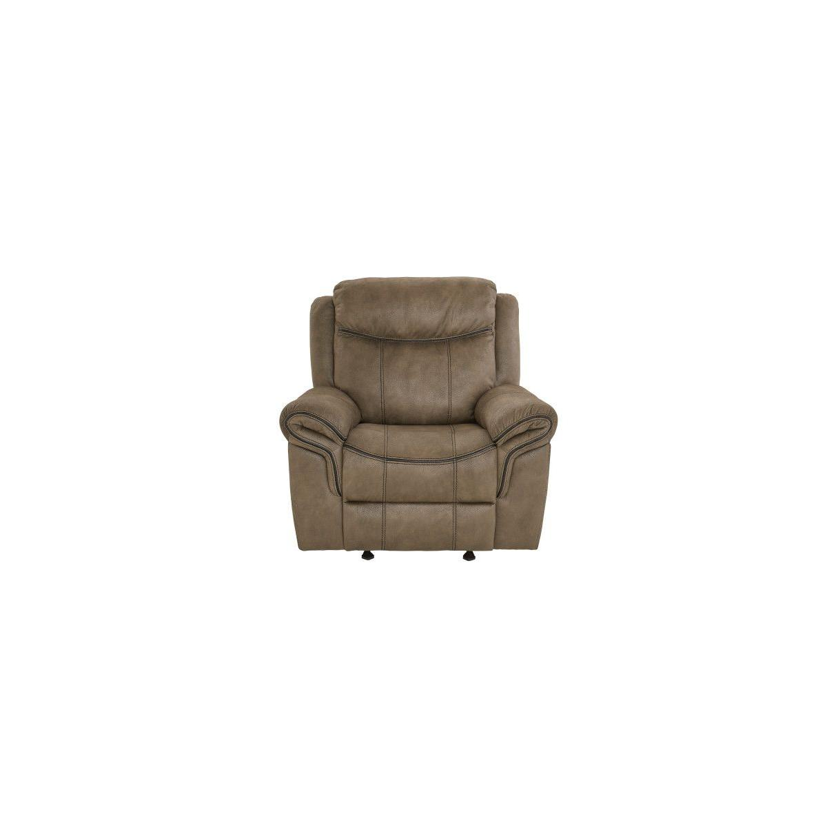 Knoxville Manual Motion Glider Recliner, Mocha
