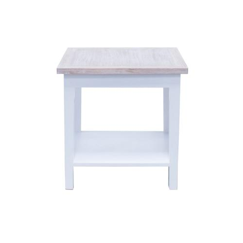 Lamp Table, Available in White Teak Finish.