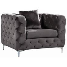 """Scarlett Velvet Chair - 43"""" W x 35.5"""" D x 30.5"""" H"""