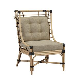 See Details - Golden Days Rattan Chair with Leather Bindings