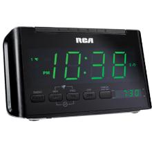 Auto time set, dual wake clock radio with 1.4 inch display
