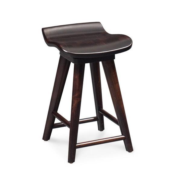 "See Details - Mason Swivel Barstool, 30"" Seat Height / Fabric Cushion Seat"