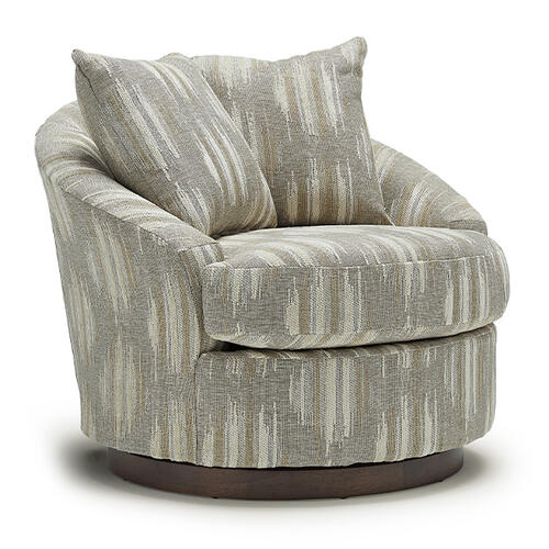 Best Home Furnishings - ALANNA Swivel Barrel Chair