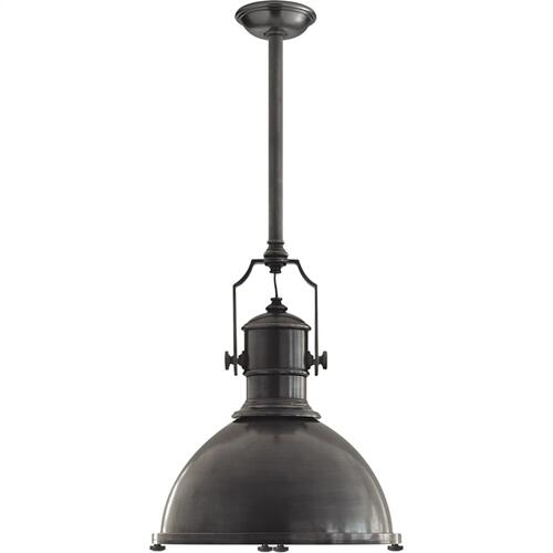 Visual Comfort CHC5136BZ-BZ E. F. Chapman Country Industrial 1 Light 20 inch Bronze Pendant Ceiling Light