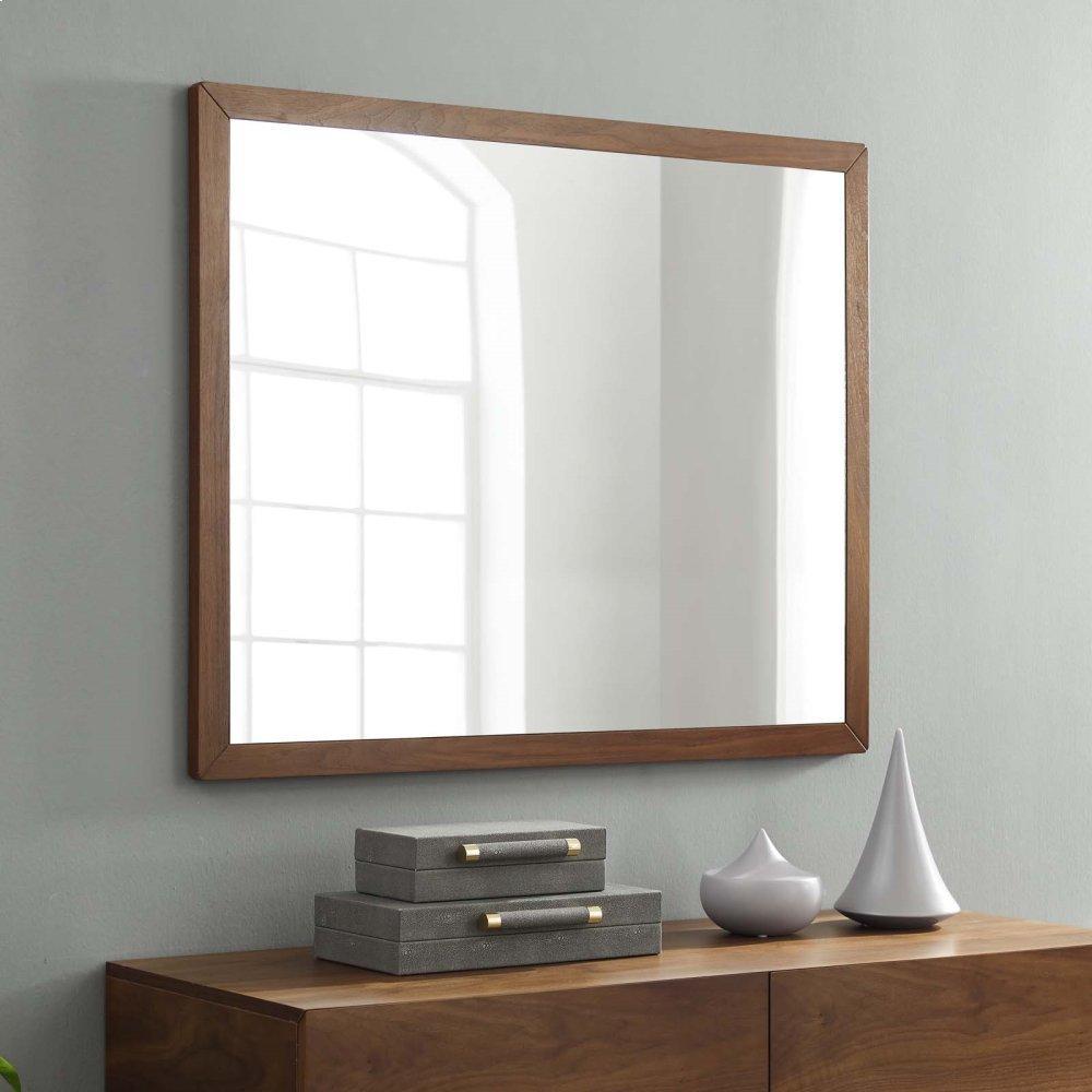 Caima Mirror in Walnut