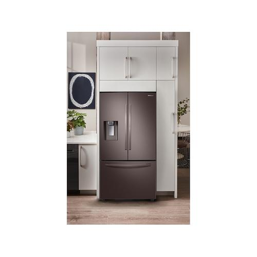 28 cu. ft. 3-Door French Door Food Showcase Refrigerator in Tuscan Stainless Steel