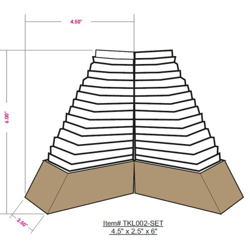 """Tikal TKL-002 4.5"""" x 2.5"""" x 6"""",4.5"""" x 2.5"""" x 6"""""""
