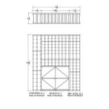 Apex 6' Redwood Wine Rack Kit (CHP/MAG-6.1, IB-B/D-6.1, IBF-3COL-6.1) - READY TO SHIP