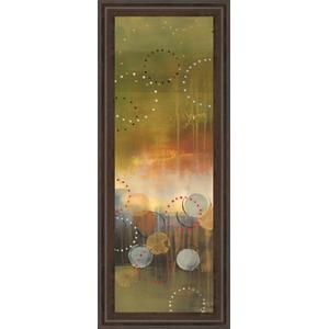 """Circles In Green Panel I"" By Jeni Lee Framed Print Wall Art"