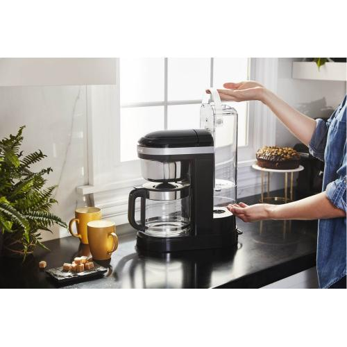 12 Cup Drip Coffee Maker with Spiral Showerhead and Programmable Warming Plate - Onyx Black
