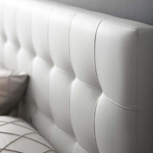 Lily King Upholstered Vinyl Headboard in White