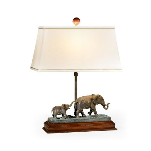 The elephant table lamp (Left)
