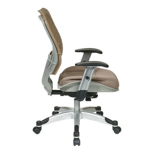 Unique Self Adjusting Latte Spaceflex Back Managers Chair