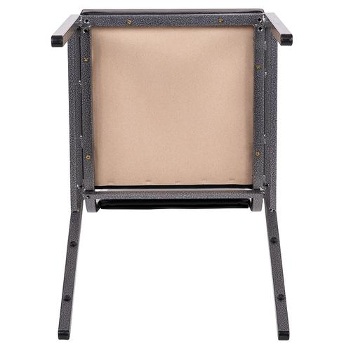 HERCULES Series Square Back Stacking Banquet Chair in Gray Fabric with Silvervein Frame