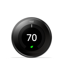 Nest Learning Thermostat 3rd Gen Black 1 Pack