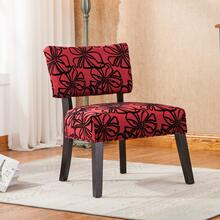 Taylor Red with Black Flower Oversize Dining Chair