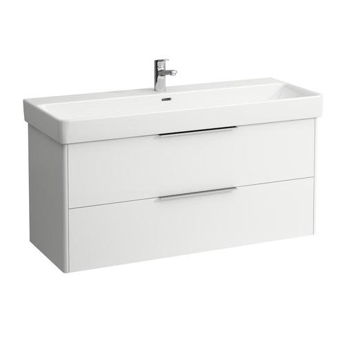 Traffic Grey Vanity unit, 2 drawers, incl. drawer organizer, matching washbasin 814965