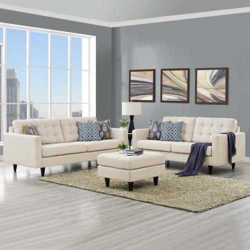 Modway - Empress Sofa and Loveseat Set of 2 in Beige