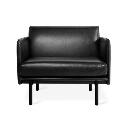 Foundry Chair New Saddle Black Leather / Black