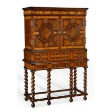 See Details - William & Mary oyster drinks cabinet on stand
