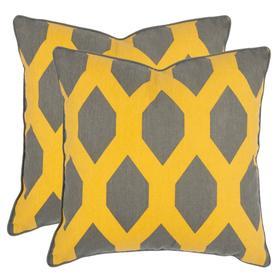 Allen Pillow - Yellow / Grey