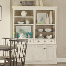 China Cabinet Hutch - Chalk Finish