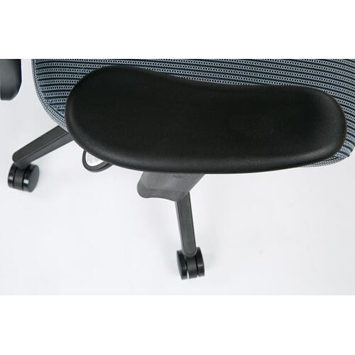 Deluxe Chair With Blue Mist Veraflex Back and Veraflex Fabric Seat