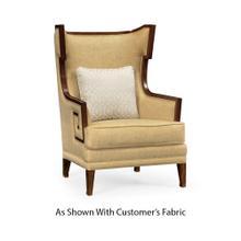 See Details - Biedermeier Greek Key Walnut Occasional Chair