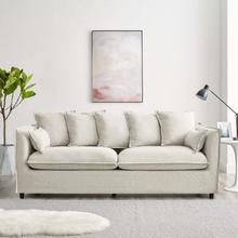Avalon Slipcover Fabric Sofa in Beige