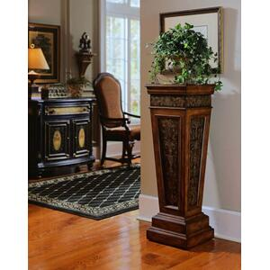 Accentrics Home - Faux Metal Inlay Accent Pedestal