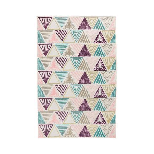 Mohawk - Triangles, Cream- Rectangle