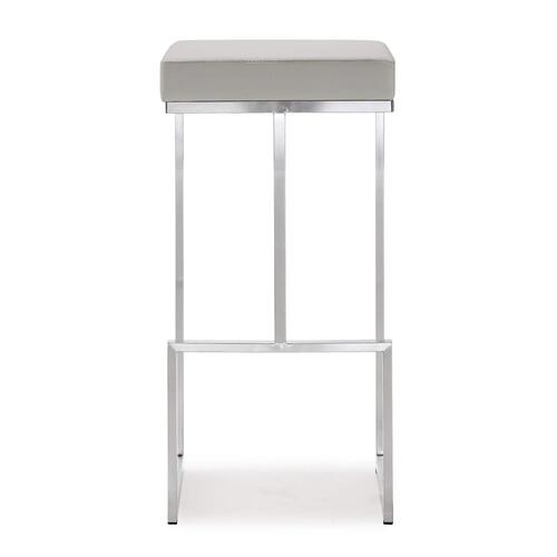 Tov Furniture - Ferra Light Grey Steel Barstool (Set of 2)