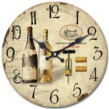 Circular Wooden Wall Clock